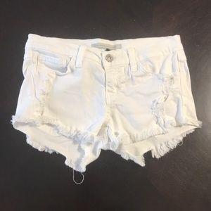 Flying Monkey / Blue white raw edge shorts